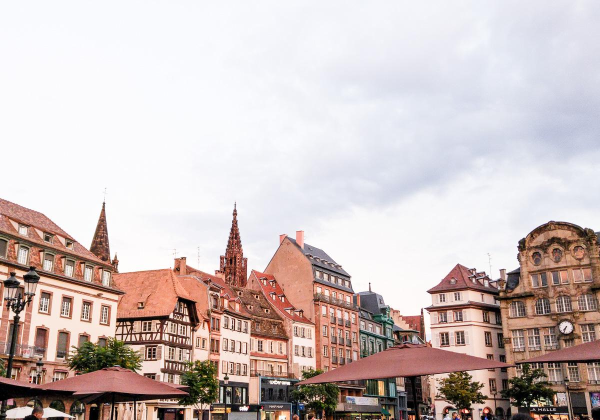 Straßburg Altstadt Städteurlaub mit Baby und Fahrrad Tour am Rhein