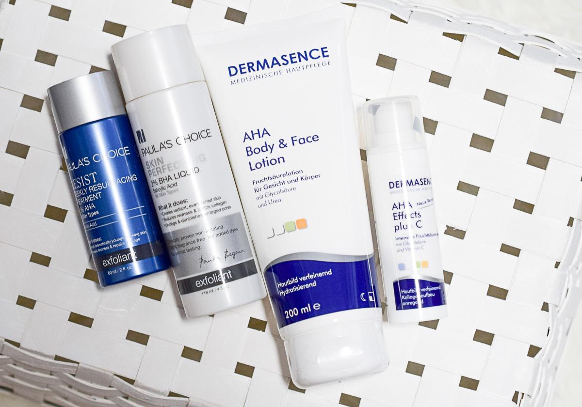 Regelmäßig chemische Peelings AHA und BHA verwenden Vorteile Nachteile Erfahrungen Beautyblogger Tipps Montagsfrage I need sunshine Beautyblog