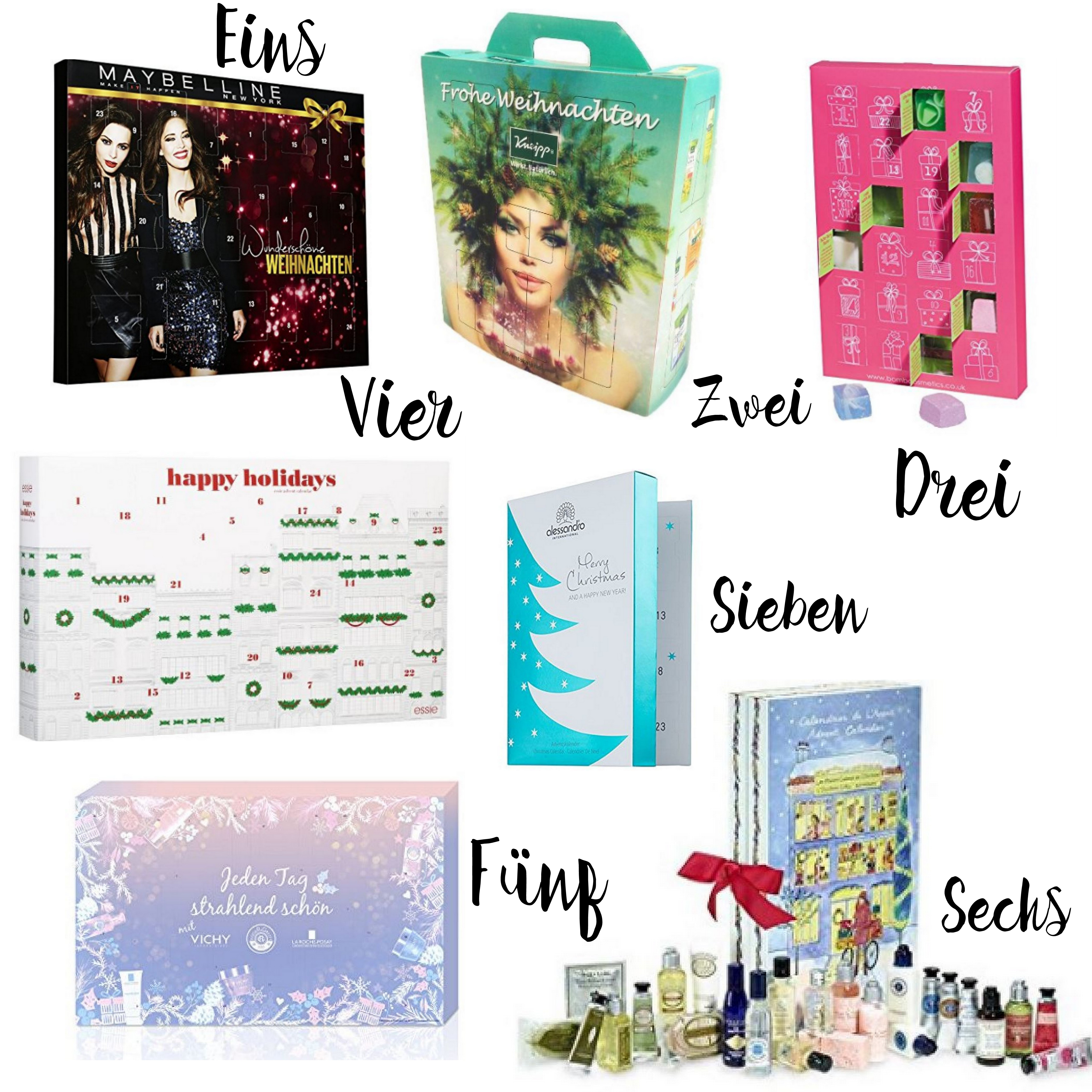 Die besten Kosmetik Adventskalender 2016 mit Amazon Beauty Adventskalender, Essie Adventskalender, L'Occitane Adventskalender, Vichy Adventskalender und mehr auf I need sunshine Beautyblog