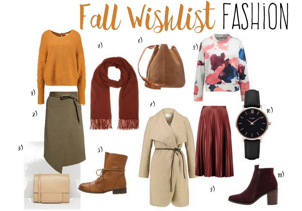 Herbst Inspirationen Fashion Mode Wishlist Shopping Guide für den Herbst