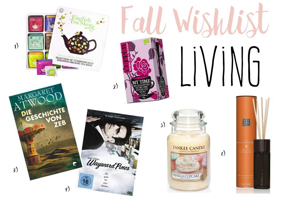 Fall Wishlist Living: Bücher, Serien, Duftkerzen, Tee für den Herbst