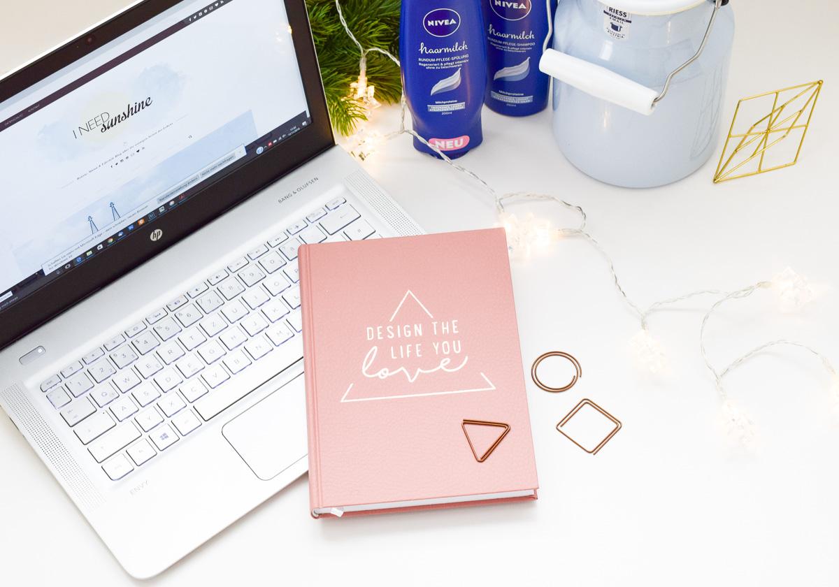 Rundum glücklich werden und Zeit für Hobbies nehmen wie Bloggen als Hobby Design the life you love Kalender von Jo & Judy