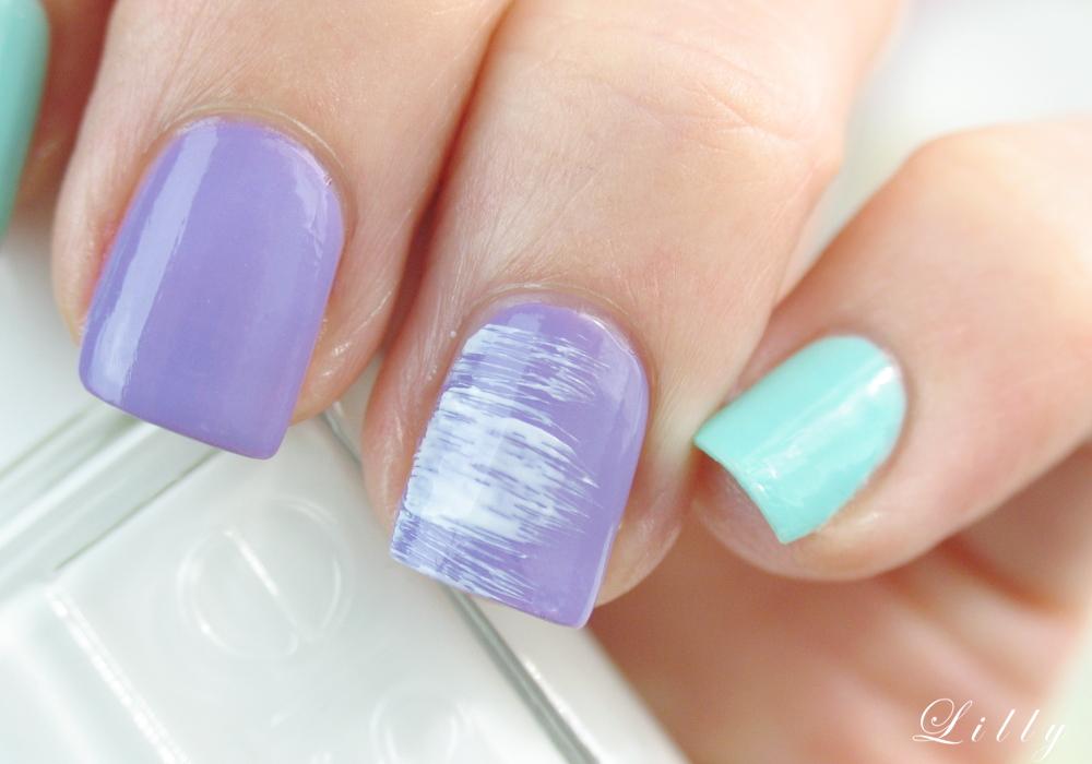 Tutorial Dry Brush Nägel von Nagelbloggerin Lackelfe mit Essie Nagellacken und Anleitung