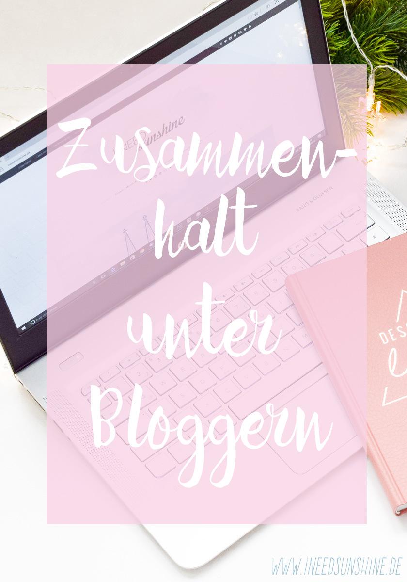 Zusammenhalt unter Bloggern: Unterstützung, Support, Freundschaft statt Konkurrenz und Neid Blogger Tipps und Montagfrage Umfrage auf I need sunshine