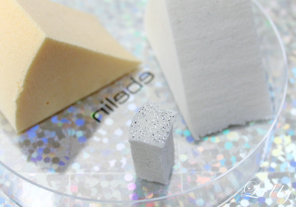 Nageldesign für Weihnachten Glitzer French Nails mit Essie Nagellack Glitzer Nägel mit Schwammtupf-Technik Nailart selber machen