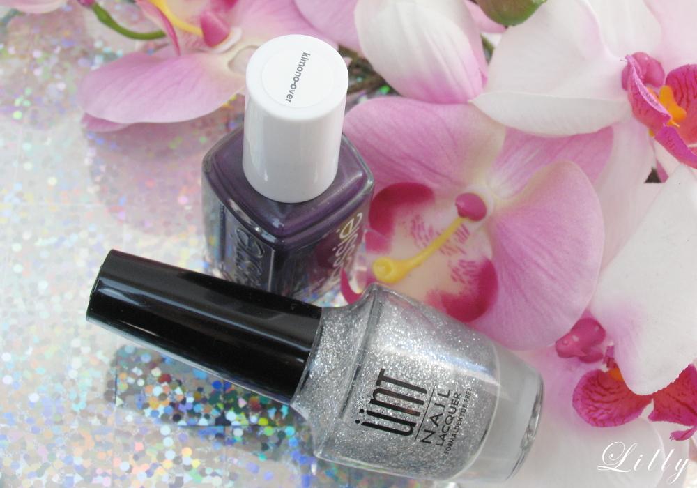 Glitzer French Nails selber machen Nageldesign für Weihnachten Maniküre Glitzer Nägel French Nails mit Essie Nagellack