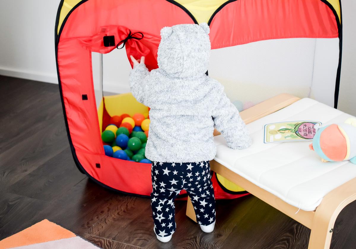Graue Plüschjacke mit Ohren von STACCATO Kindermode für den Winter Kleidung für Kleinkinder Jacke mit Teddy Ohren