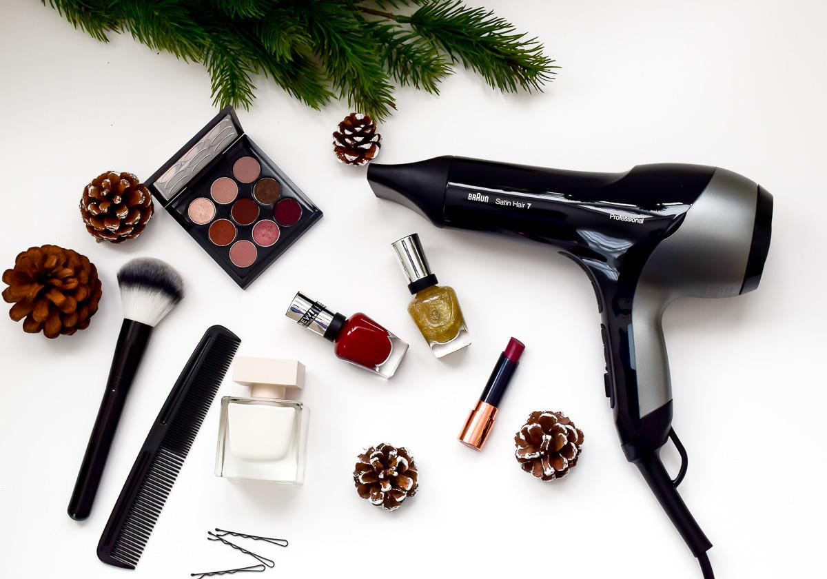 Get ready with me for Christmas: Schnell und unkompliziert Styling für Mütter Weihnachten und Heiligabend Look Frisur und Nägel
