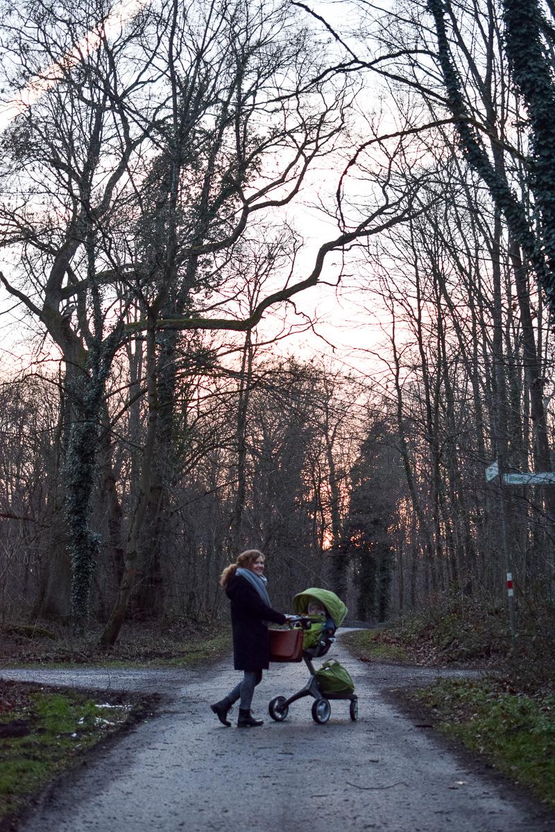 Familienausflug in den Tierpark im Winter Oberwald Karlsruhe