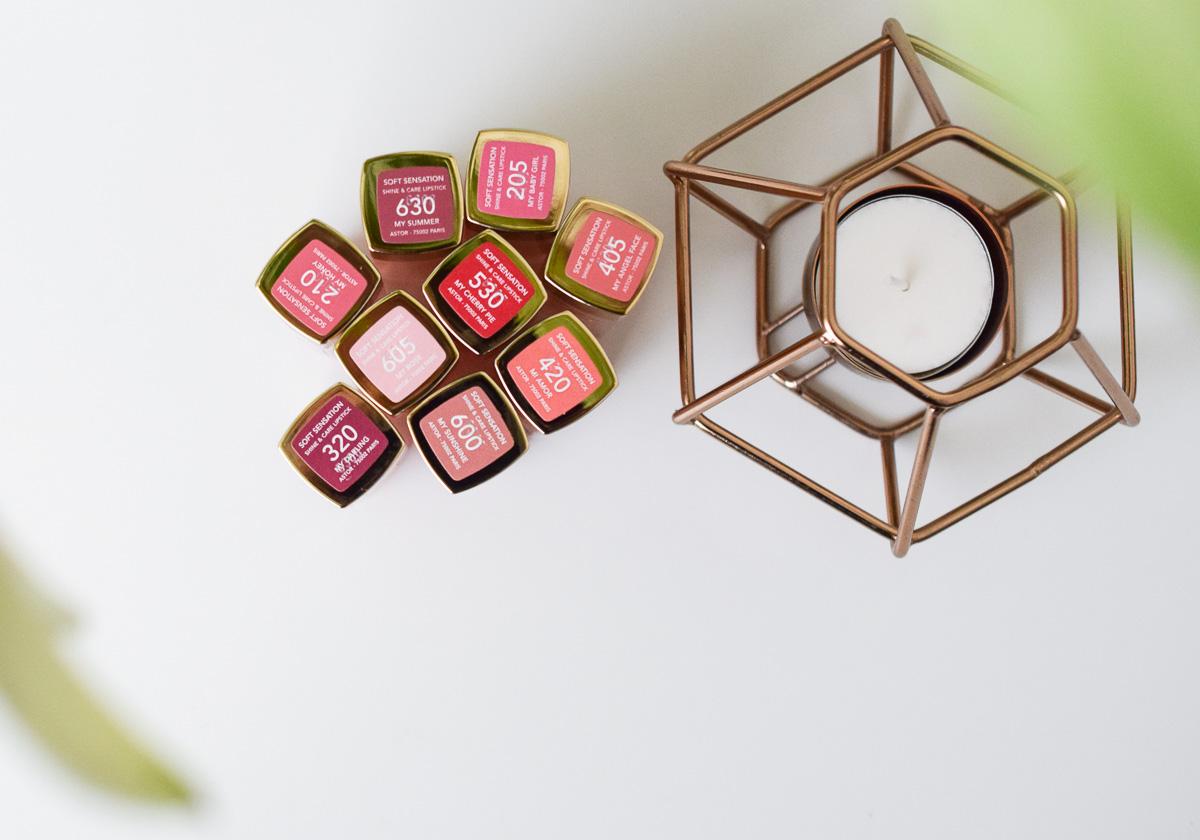 Neue Astor Soft Sensation Shine & Care Lippenstifte im Test im Beautyblogger Review für glänzende Lippen mit viel Pflege