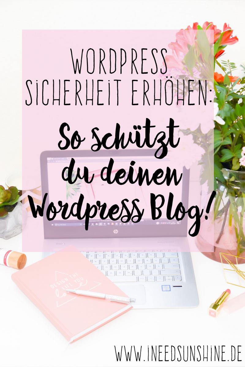 Wordpress Sicherheit erhöhen WordPress Blog schützen vor Hacking und Virus Anleitung Einstellung Sicherheitsplugin um Sicherheitslücken zu schließen