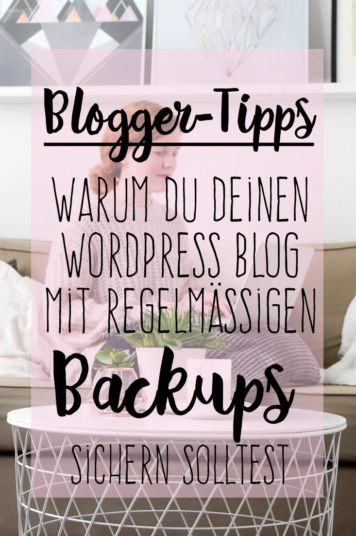 Wordpress Backups als Tipp für erfolgreiches Bloggen bei I need sunshines WordPress Tipps mit dem BackWPup Plugin und wie man dieses richtig einstellen kann.