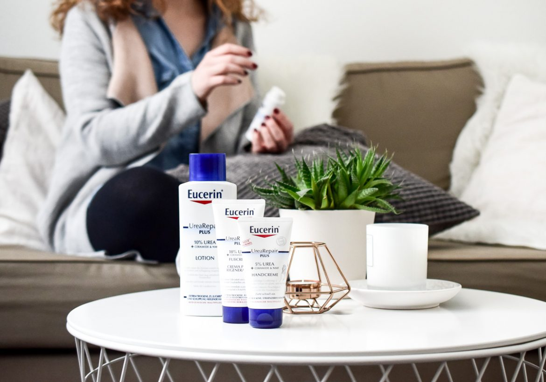 Eucerin: Juckt mich nicht! Mit Eucerin Urea Repair Hautpflege Urea Repair Plus 10% Haut Lotion gegen trockene juckende und spannende Haut im Winter