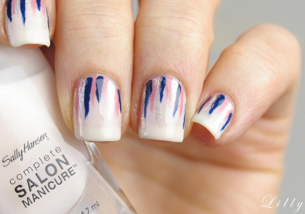 Waterfall nails tutorial einfaches nageldesign mit sally hansen nagellacken i need sunshine - Nageldesign tutorial ...