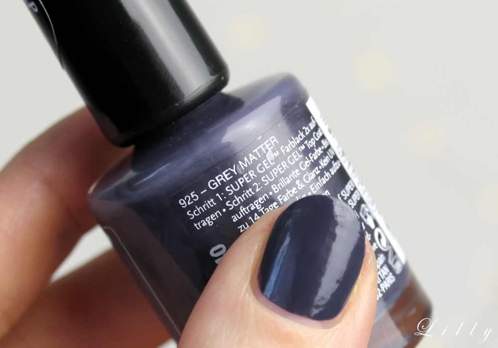 Manhattan Super Gel Nail Polish Grey Matter