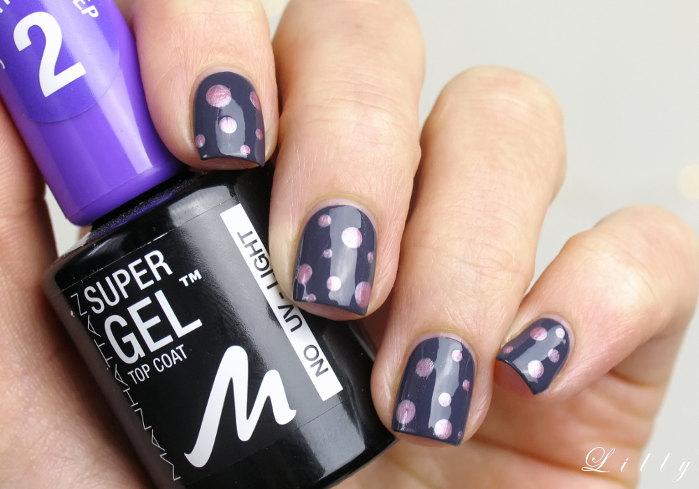 Manhattan Super Gel Nail Polish: Nageldesign mit Punkten mit Manhattan Nagellacken und Tutorial Nailart Dots