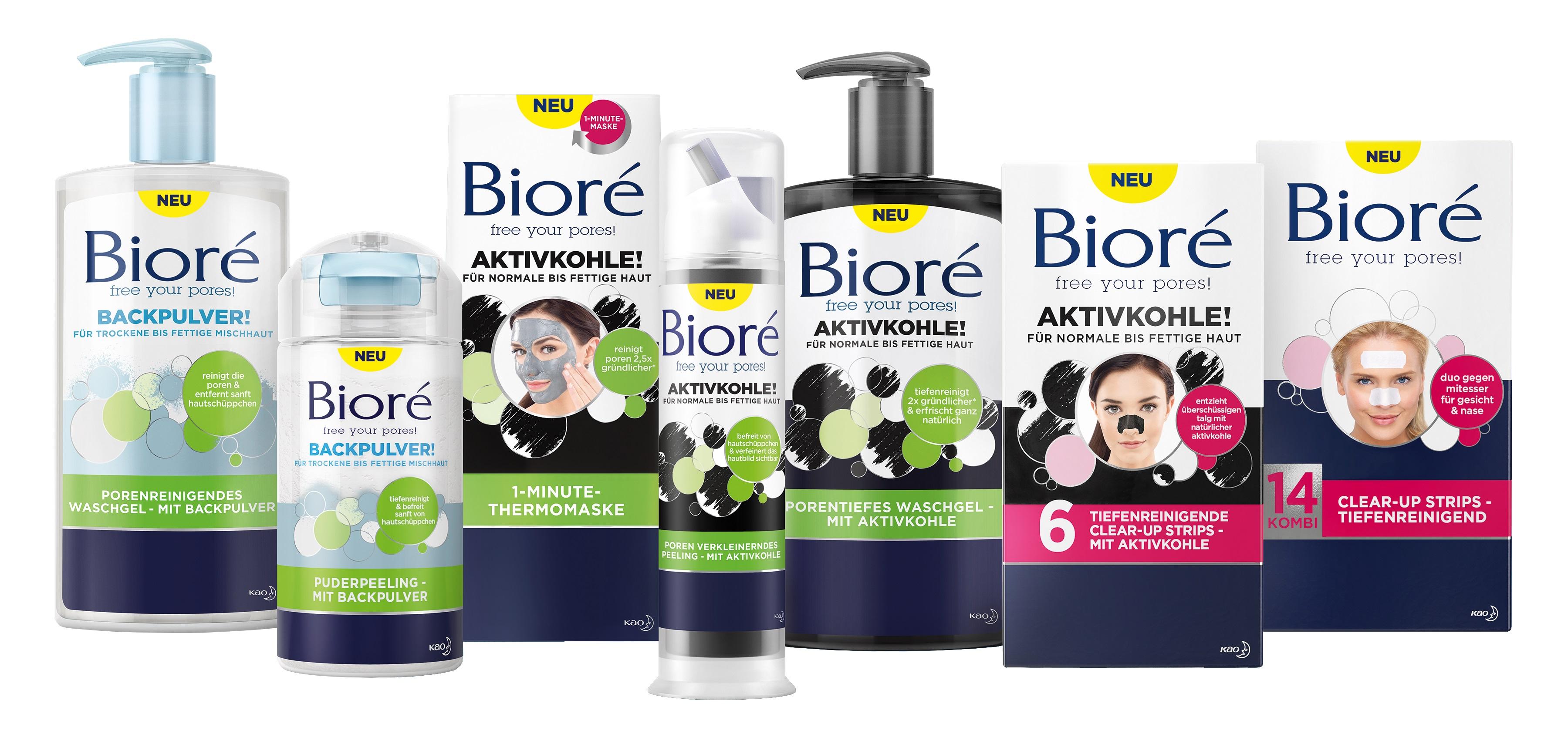 Alle Bioré Produkte Bioré Erfahrungen Aktivkohle Maske und Waschgel sowie Backpulver gegen Haut Unreinheiten große Poren und Pickel bei dm kaufen und testen