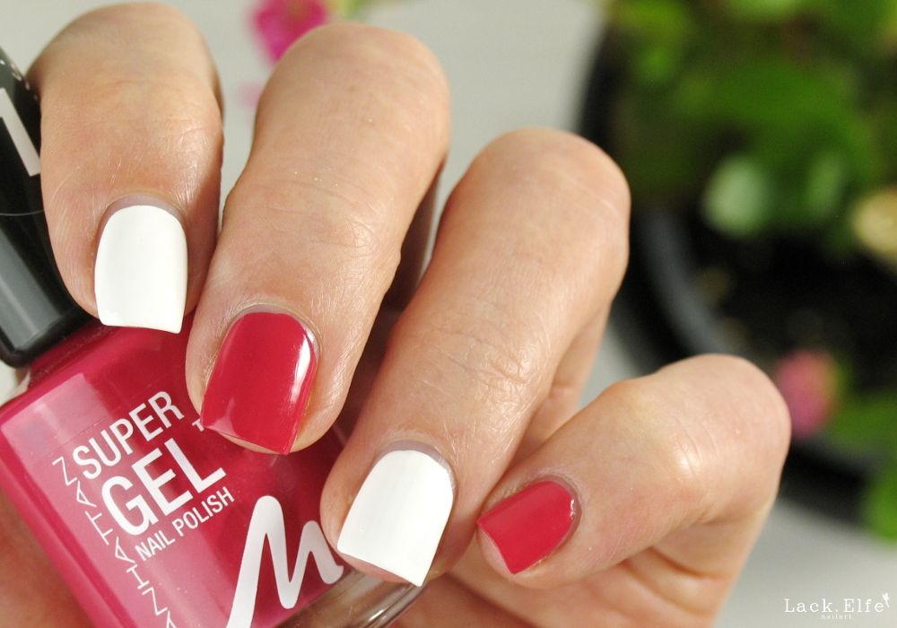 Pinker Manhattan Super Gel Nagellack Cherry Hill und weißer Essence Nagellack Wild White Ways