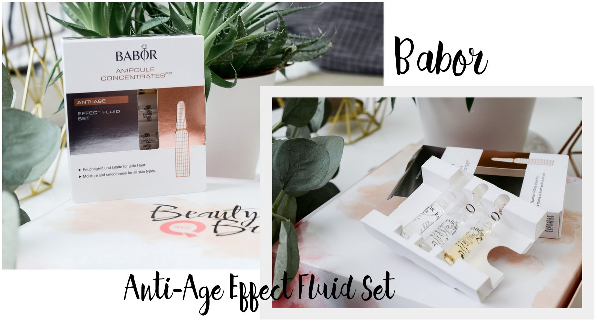 QVC Beauty Box Juli 2017 Inhalt Marken Preis Produkte BABOR Anti-Age Effect Fluid Set