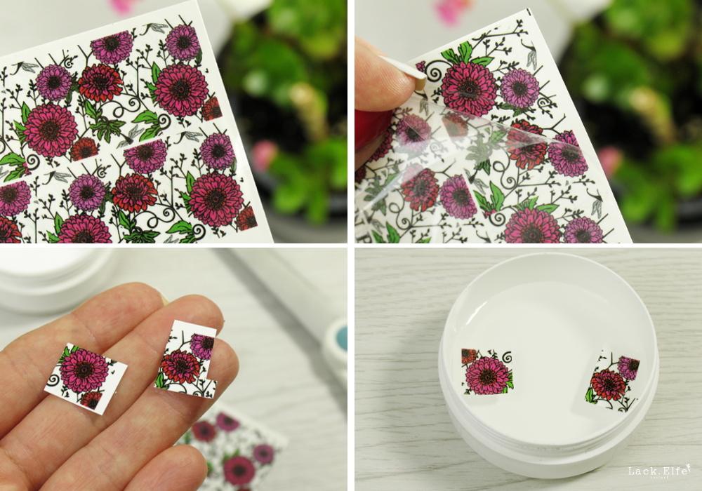 Water Decals Anleitung für Water Decals Blumen Nageldesign schnell und einfach auftragen und anwenden
