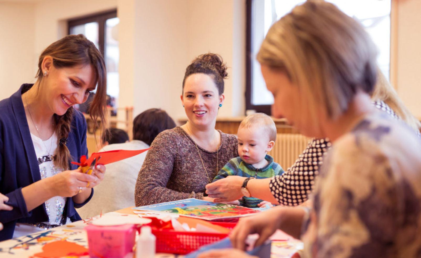 Du bist ein Gewinn Deutsche Fernsehlotterie Solidarisches Miteinander unter Müttern Elterncafe Familientreff Krabbelgruppe