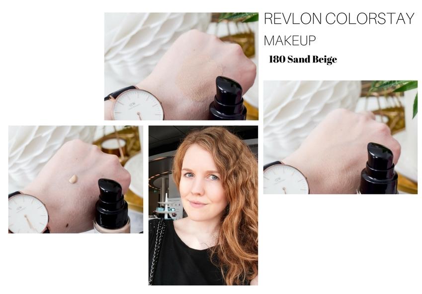 Revlon ColorStay Foundation Farben Sand Beige Makeup Mischhaut Ölige Haut Rossmann Drogerie kaufen Erfahrungen Test Review Beautyblogger I need sunshine Swatches