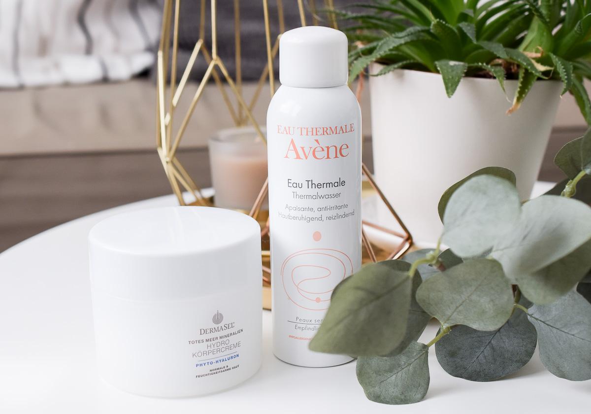 Kosmetik aufgebraucht Blog Juli 2017 Pflege Hautpflege Reviews im Test Avene Thermalwasser Spray Derma Sel Körpercreme