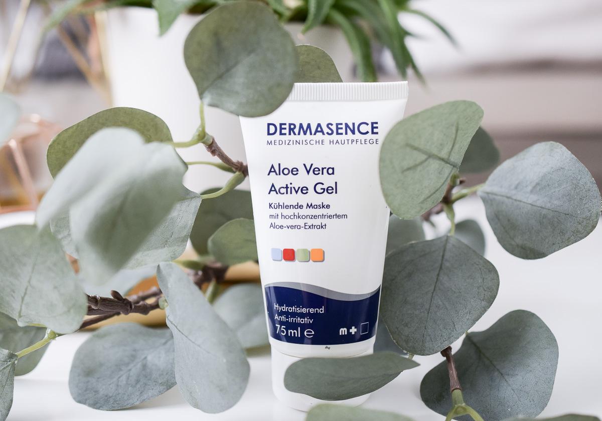 Auf dem Beauty Blog aus Deutschland I need sunshine gibt es aufgebrauchte Kosmetik im Juli 2017 mit Hautpflege Reviews Dermasence Aloe Vera Active Gel Maske