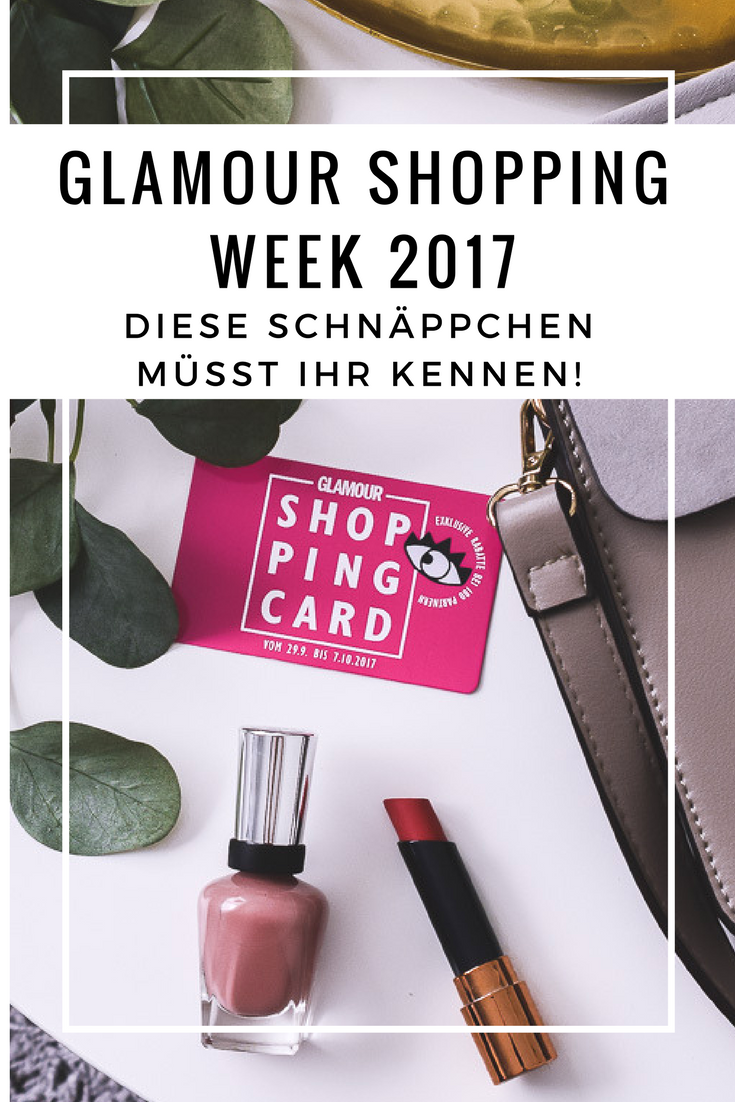 Glamour Shopping Week Codes Partner Glamour Shopping Card Datum April Oktober im Frühling und Herbst