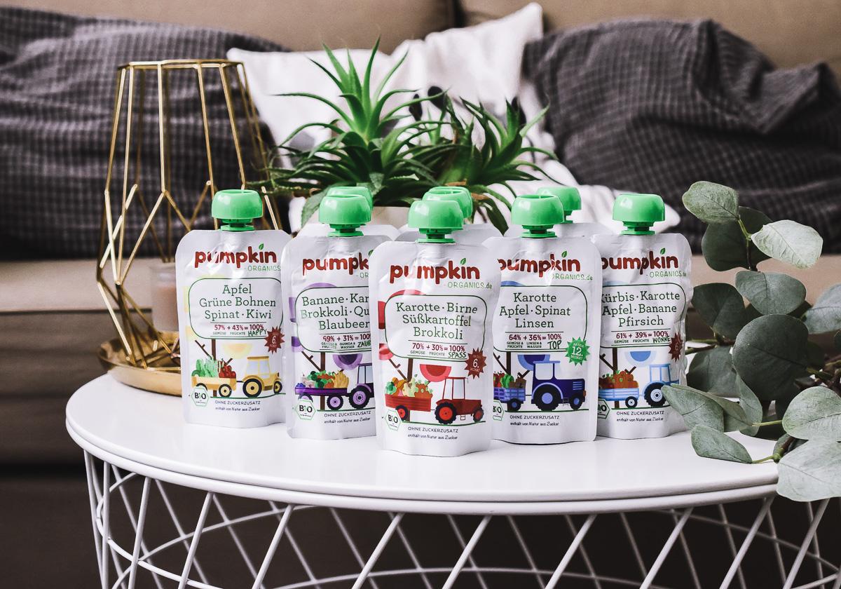Pumpkin Organics Gemüse Quetschies für Babys Kleinkinder im Test mit Bio-Gemüse und weniger Zucker als gesunder Snack für unterwegs