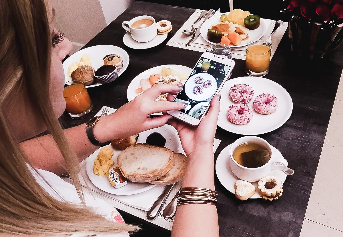 Frühstück im A. Roma Lifestyle Hotel in Rom zum Launch des neuen ASUS ZenFone 4 Smartphones im Sonnenseiten Blogger Wochenrückblick auf I need sunshine