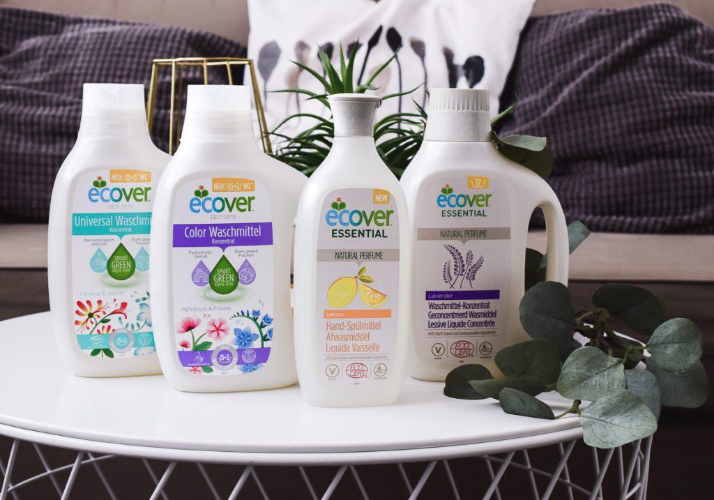 Ecover Essentials mit Ecocert-Zertifizierung ökologische Reinigungsprodukte für ganze Familie bio und nachhaltig