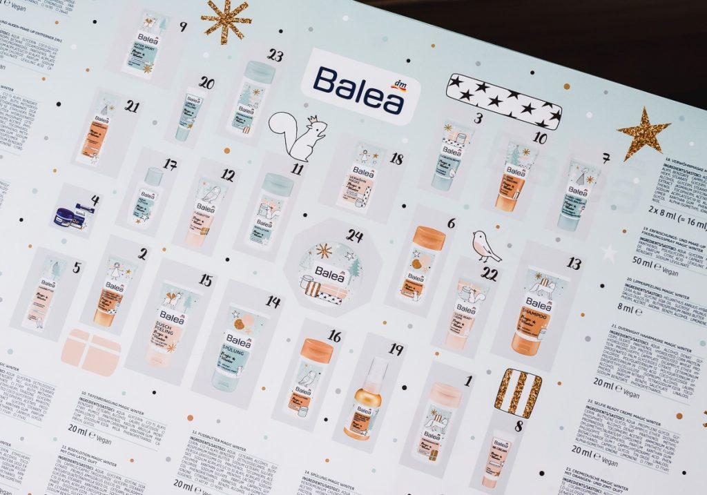 Balea Adventskalender 2017 dm Drogerie Markt ab wann kaufen lohnt er sich was ist drin Inhalt in praktischer Übersicht und Infos zum Preis und Erfahrungen mit dem Beauty Kosmetik Adventskalender