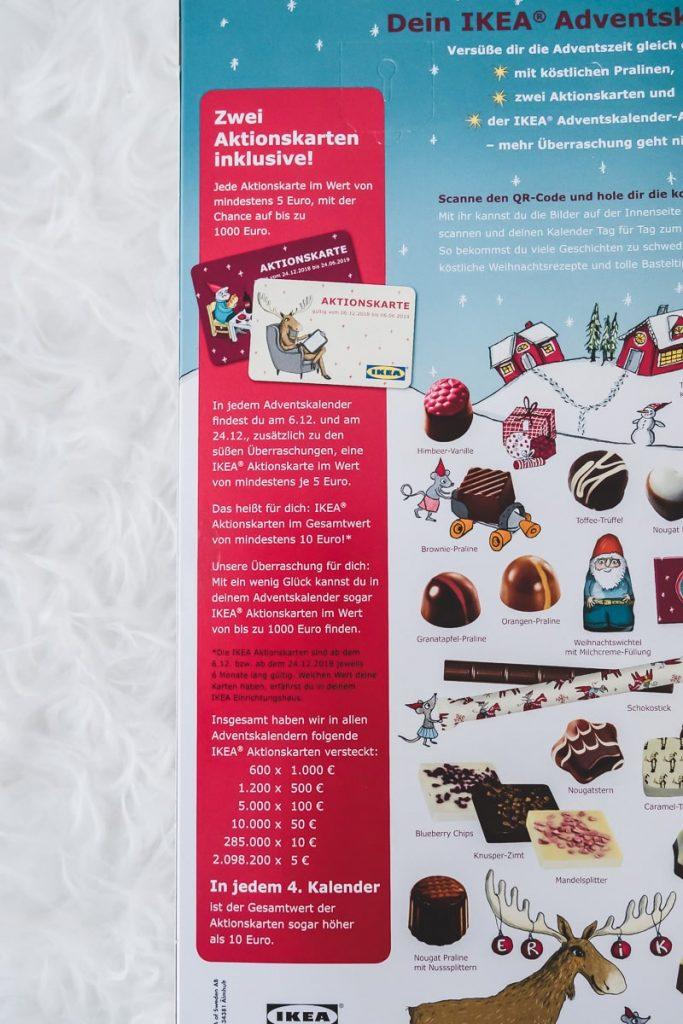 Ikea Adventskalender 2018 Aktionskarten Gutschein Werte erfahren welcher Inhalt und wie Gutschein einlösen im Test und Erfahrungen
