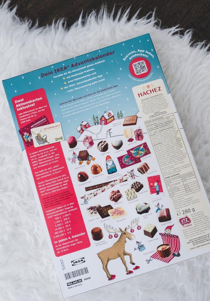 Ikea Adventskalender Erfahrungen und Inhalt zu Gutscheinen und Schokolade und Pralinen von Hachez