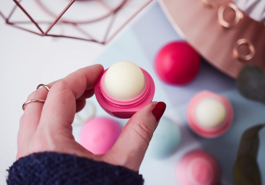 eos Evolution of Smooth neue verbesserte Formel Organic Lip Balms Visibly Soft Erfahrungen Test