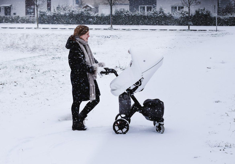 Stokke Xplory Kinderwagen im Test Erfahrungen Baby Kleinkind Kombi Kinderwagen Winter Kit