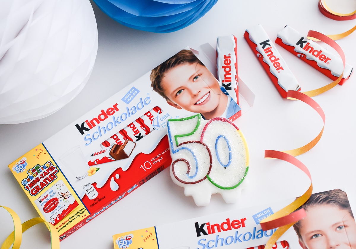 Ferrero kinder Schokolade Torte als Deko oder Geburtstagsgeschenk Anleitung Bastel Idee Kindergeburtstag