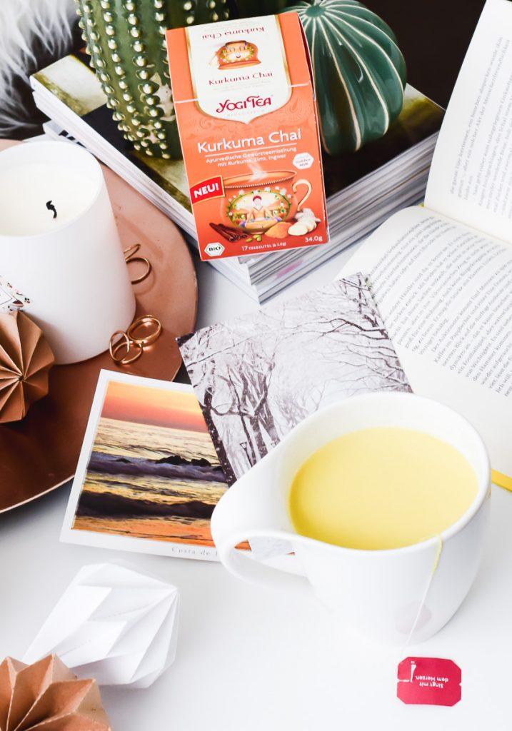 Goldene Milch zubereitung YOGI TEA Kurkuma Chai mit Milch #7minuteschallenge