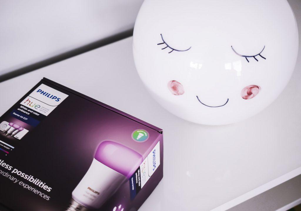 DIY Nachtlampe Ikea Fado Lampe selber machen Schlafende Augen Smart Home Kinderzimmer Tipps Erfahrungen E.ON Plus Smart Home