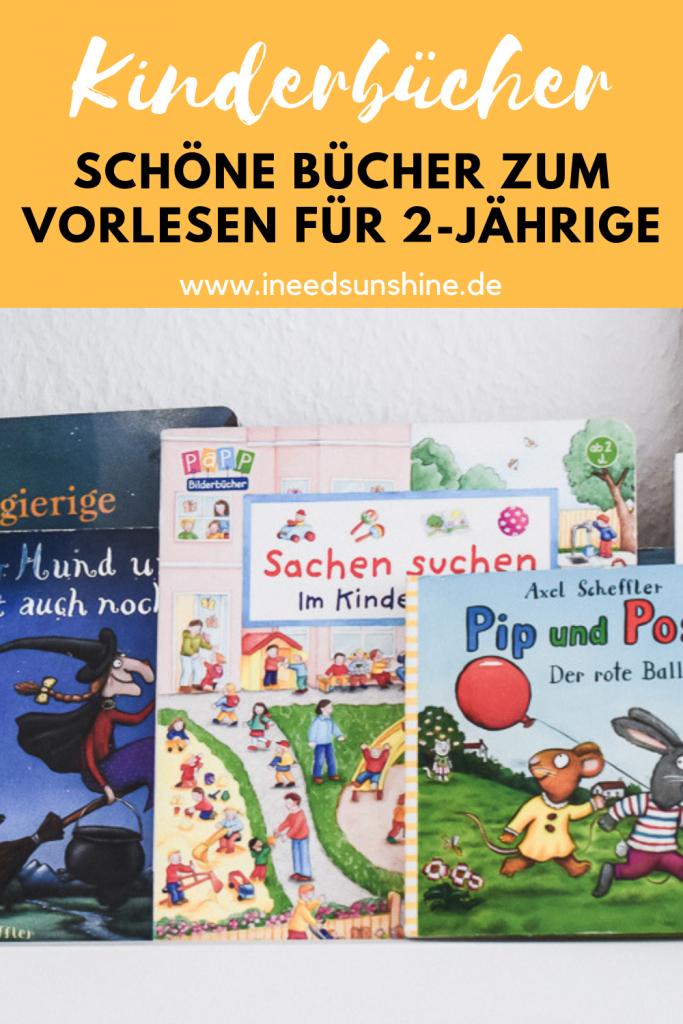Tipps und Empfehlungen für schöne Kinderbücher zum Vorlesen für 2 Jahre alte Kleinkinder auf Mamablog I need sunshine