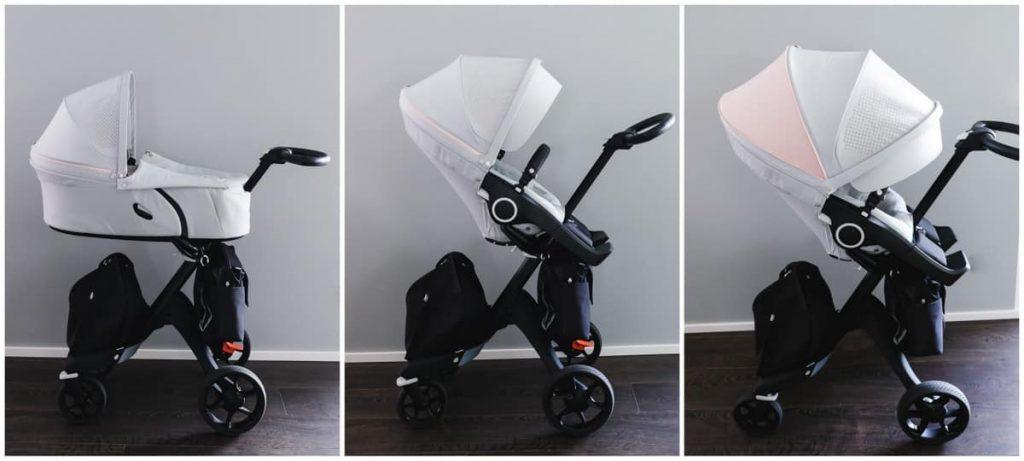 Stokke Xplory V6 Athleisure Pink Kinderwagen Vergleich V5 Vorgänger Modell Änderungen Verbesserungen Kombi-Kinderwagen Babys Kleinkinder Erfahrungen Test Bericht Kinderwagentest