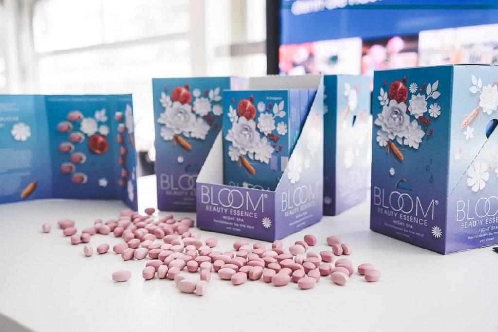 Bloom Beauty Essence Nahrungsergänzung auf Beauypress Event Leinen los in Köln