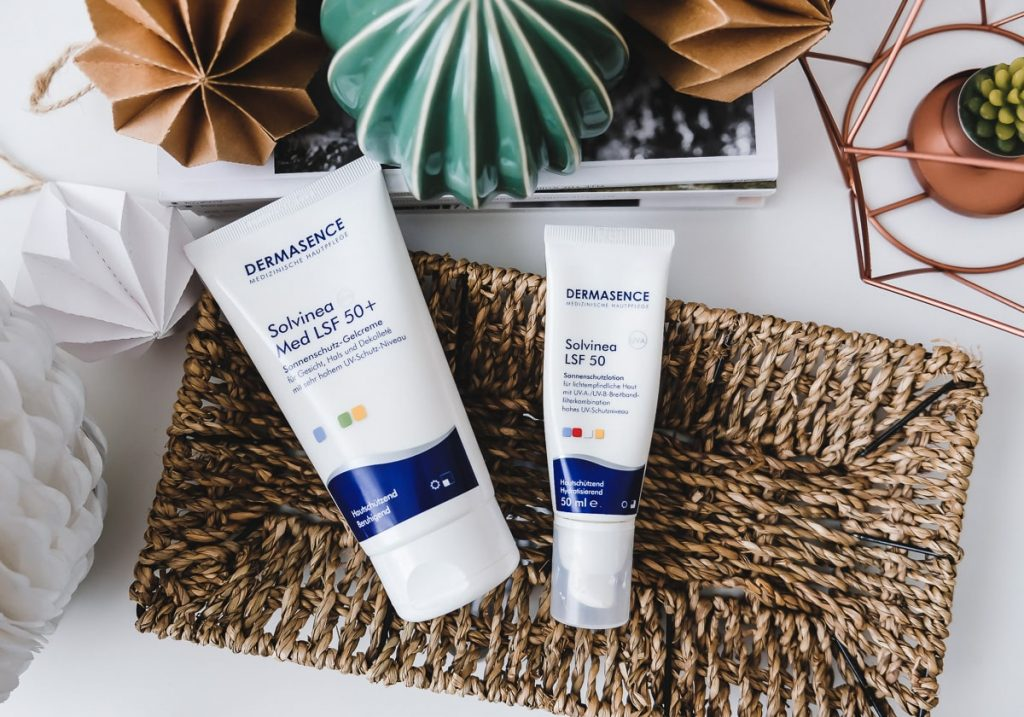 Sonnenschutz von Dermasence Solvinea für Gesicht und Körper im Test Review Erfahrungen