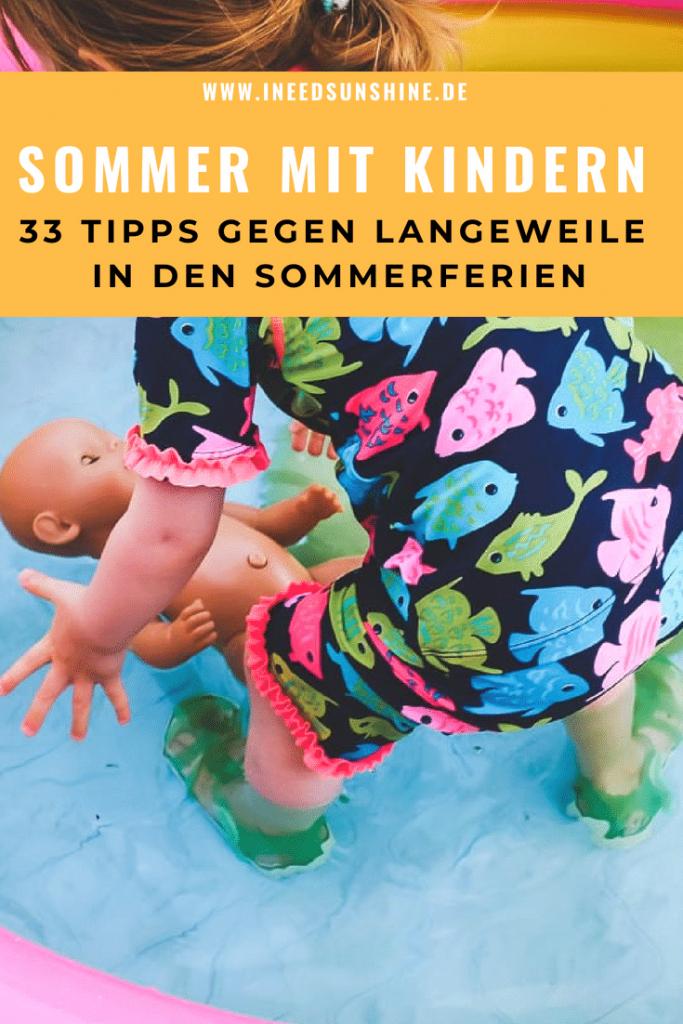 Kindergarten Kita Sommer Ferien Tipps Spiele Ideen Beschäftigung für Kinder in der Ferienzeit für drinnen und draußen Kleinkinder geeignet Mamablog I need sunshine