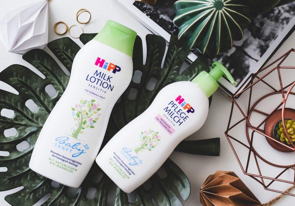 Review und Testbericht zu HiPP Babysanft Pflegeprodukte für Erwachsene. HiPP Pflegemilch und Milk Lotion für trockene und sensible Haut im Test auf Beautyblog www.ineedsunshine.de