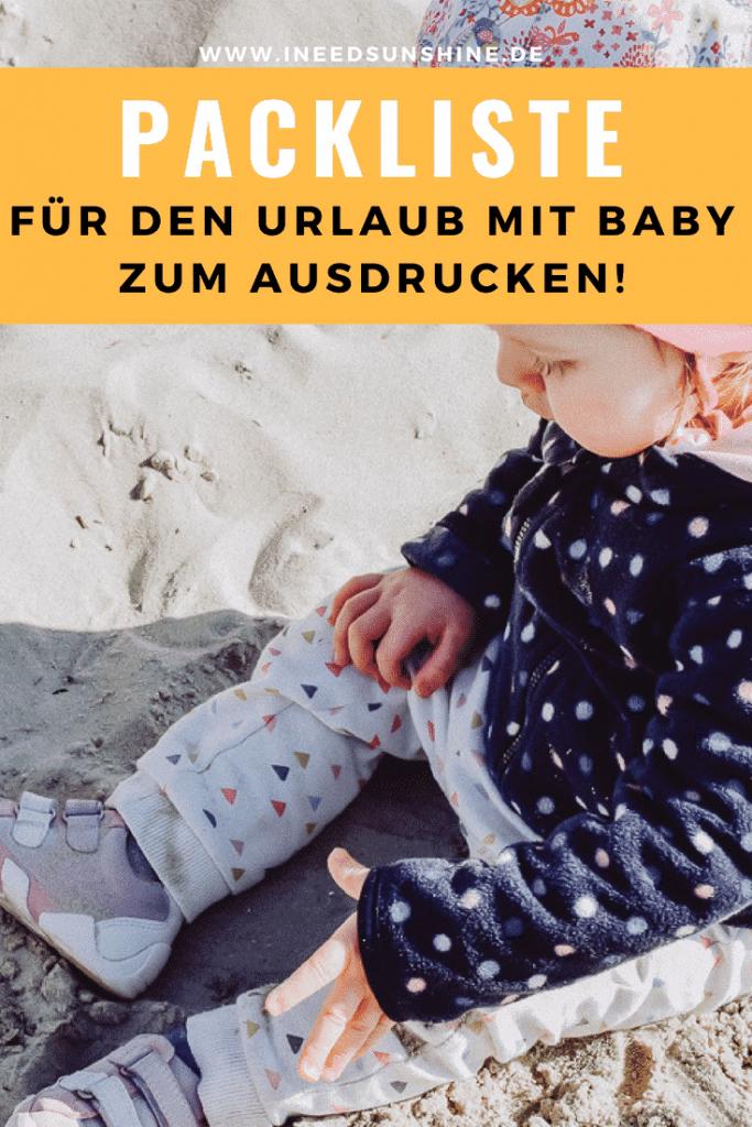 Packliste für den Urlaub mit Baby: Mit dieser Checkliste zum Ausdrucken für das Koffer packen im Urlaub mit Kindern nichts mehr vergessen! Tipps & Infos auf Mamablog www.ineedsunshine.de