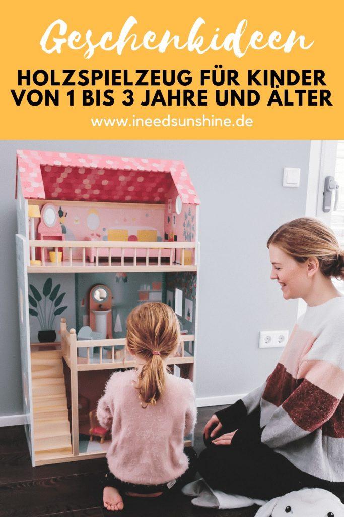 Tipps und Geschenkideen zu Weihnachten für Kinder von 1 bis 3 Jahre und älter mit schönem und sinnvollem Holzspielzeug auf Mamablog I need sunshine