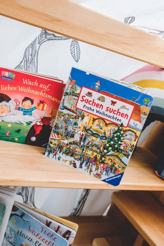 Wimmelbuch für Weihnachten: Sachen suchen Frohe Weihnachten von Ravensburger und weitere Empfehlungen und Tipps für Weihnachtsbücher für Kleinkinder auf Mamablog I need sunshine