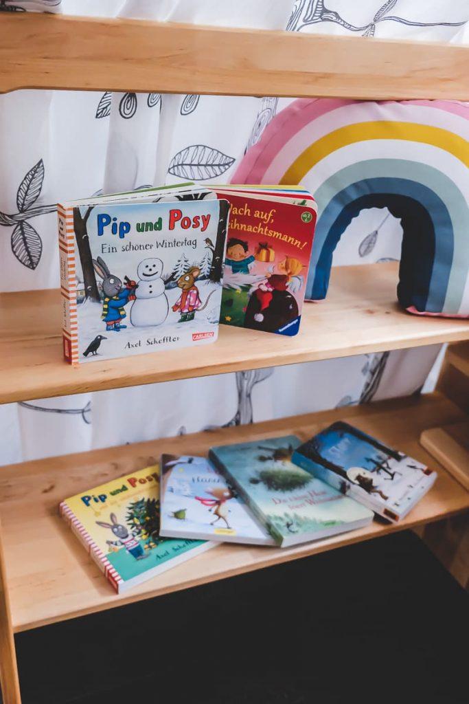 Moderne Kinderbücher zu Weihnachten mit Pip und Posy von Axel Scheffler sowie weitere Tipps und Empfehlungen für Weihnachtsbücher für Kleinkinder auf Mamablog I need sunshine